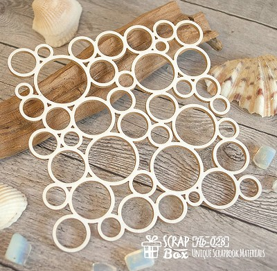 Chipboard background bubbles Hb-028