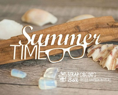 Chipboard inscription Summer Time Hi-287