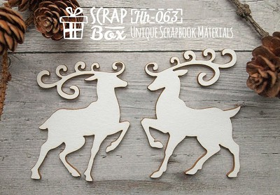 Chipboard reindeer Hh-063