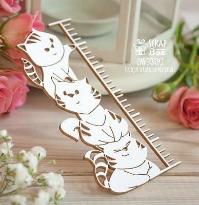 Chipboard Cat metric Hc-059