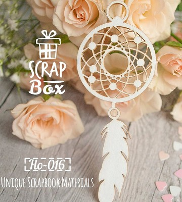 Chipboard Dreamcatcher small Ho-016