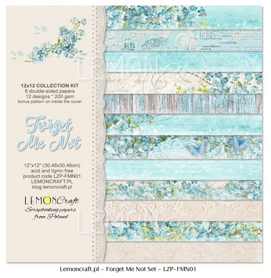 Set of scrapbooking papers - Forget Me Not 12 x 12 new collection