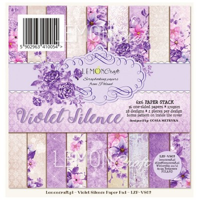 Pad of scrapbooking papers - Violet Silence 6x6 inch