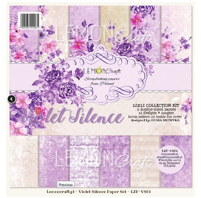 Set of scrapbooking papers - Violet Silence - 12 x 12