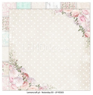 Lemoncraft Double sided scrapbooking paper - Yesterday LP-YES03 12 x 12