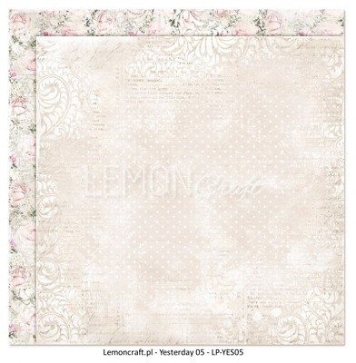 Lemoncraft Double sided scrapbooking paper - Yesterday LP-YES05 12 x 12