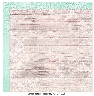 Lemoncraft Double sided scrapbooking paper - Yesterday LP-YES06