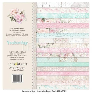 Lemoncraft - Pad of scrapbooking papers - Yesterday 6x6 - LZP-YES02