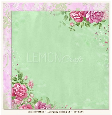 Lemoncraft Double sided scrapbooking paper - Everyday Spring 01