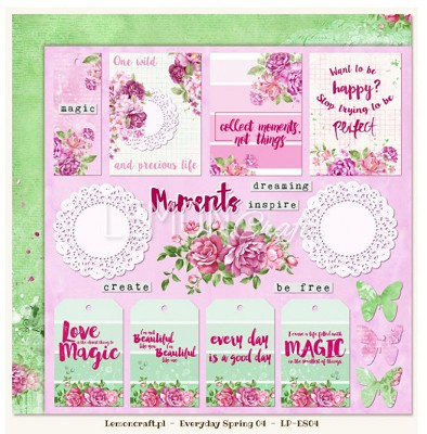 Lemoncraft Double sided scrapbooking paper - Everyday Spring 04