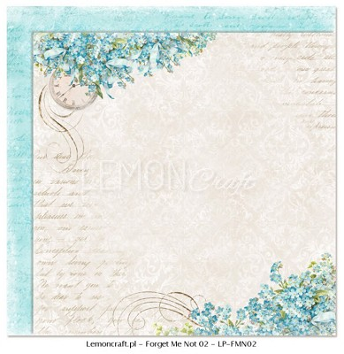Lemoncraft Double sided scrapbooking paper - Forget Me Not 02