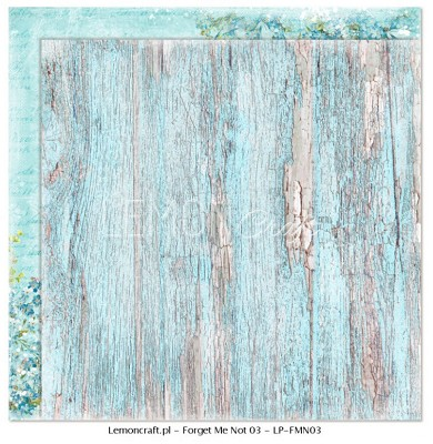 Lemoncraft Double sided scrapbooking paper - Forget Me Not 03