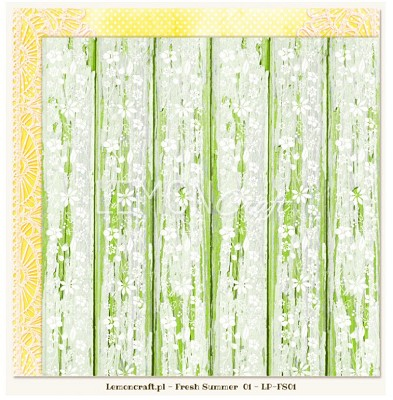 Lemoncraft Double sided scrapbooking paper - Fresh Summer 01