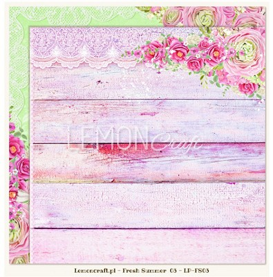 Lemoncraft Double sided scrapbooking paper - Fresh Summer 03