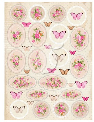 Lemoncraft Sweet Secrets One-sided scrapbooking paper - Vintage Time 029