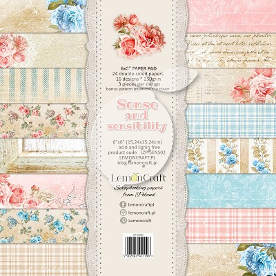 Lemoncraft Pad of scrapbooking papers - Sense and sensibility 6x6