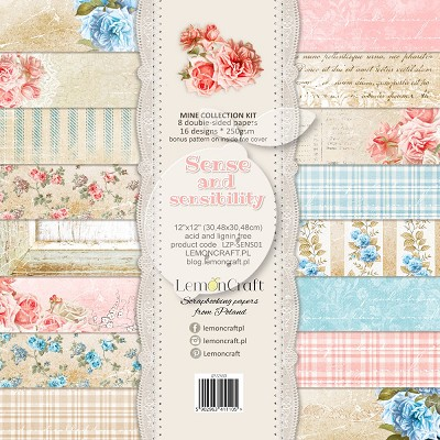 Lemoncraft Set of scrapbooking papers - Sense and sensibility 12 x 12