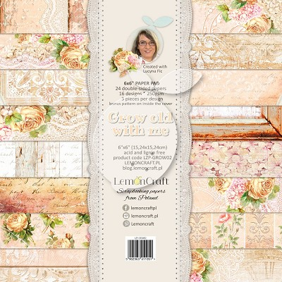 Lemoncraft Pad of scrapbooking papers - Grow old with me 6x6