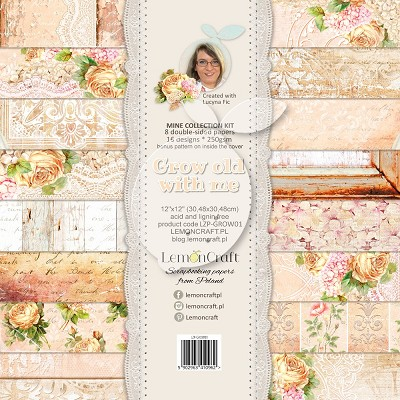 Lemoncraft Set of scrapbooking papers - Grow old with me 12 x 12