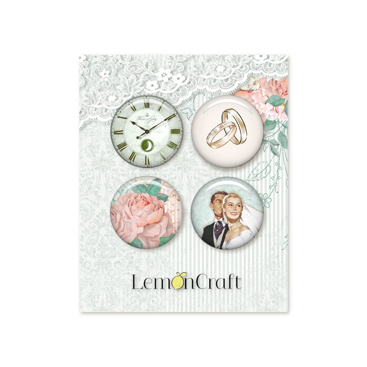 Lemoncraft  - Love of my life Buttons / Badges - 	LD-LOML01