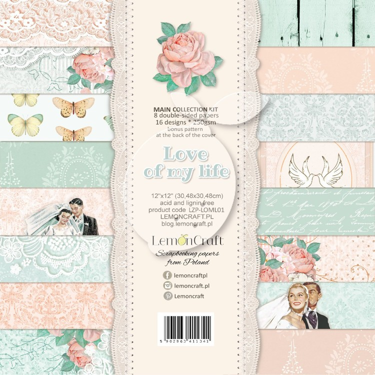 Lemoncraft - Set of scrapbooking papers - Love of my life 12 x 12