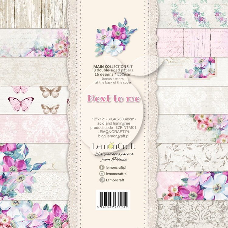 Lemoncraft - Set of scrapbooking papers - Next to me 12 x 12