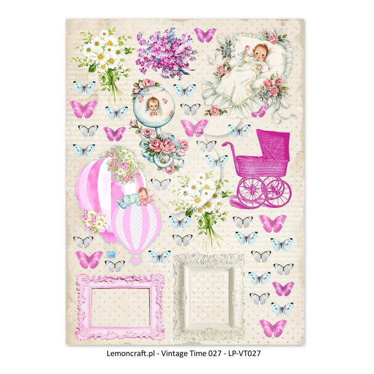 Lemoncraft - One-sided scrapbooking paper - Vintage Time 027