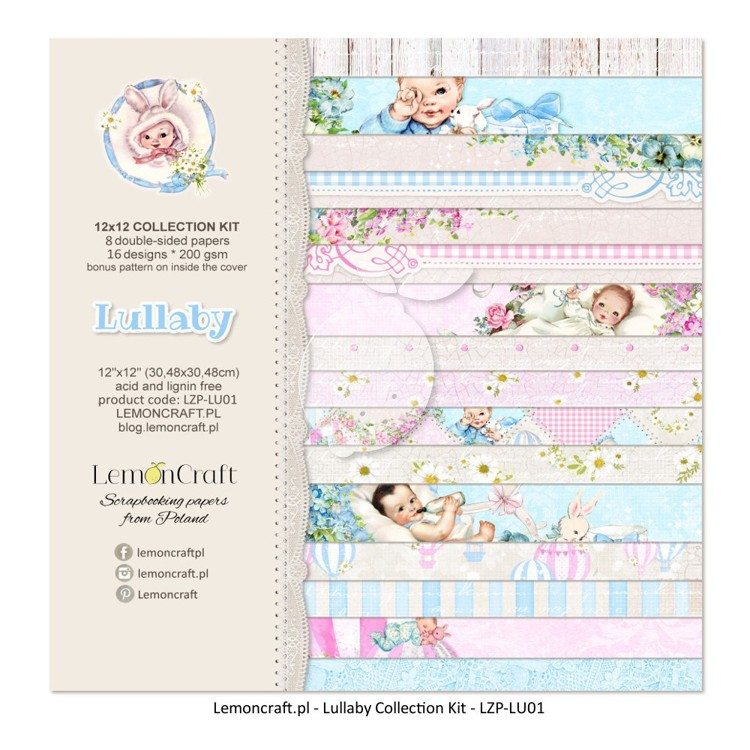 Lemoncraft - Set of scrapbooking papers - Lullaby - 12 x 12