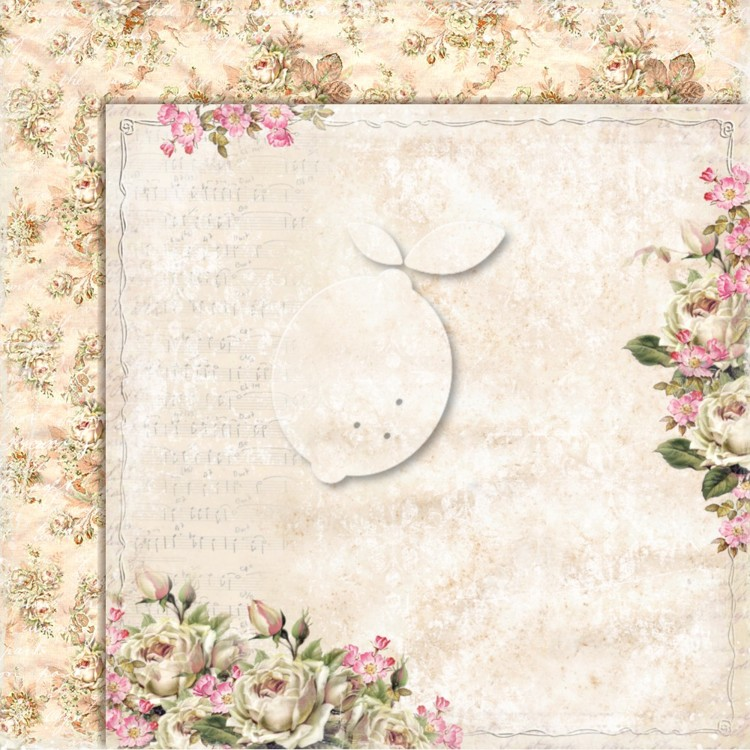 Lemon Craft - Double sided scrapbooking paper - House of roses EXTRA 01  - 12 x 12