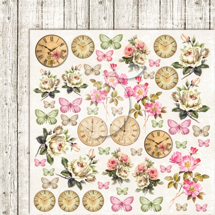Lemon Craft - Double sided scrapbooking paper - House of roses EXTRA 06  - 12 x 12