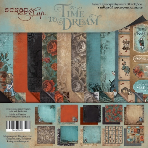 Scrapmir - Double-sided paper set 30 x 30 cm from Scrapmir Time to Dream (eng.) 10pcs