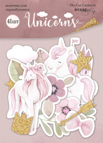 Scrapmir - Die-cut Set for scrapbooking 41pcs collection Unicorns