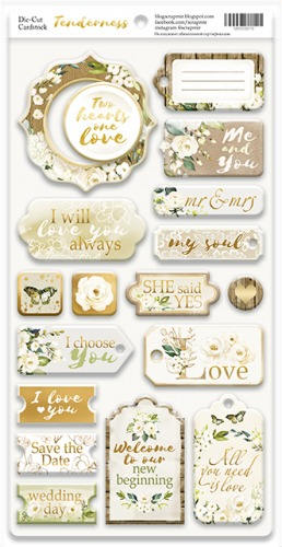 Scrapmir - Chipbord for scrapbooking from 18 pcs Scrapmir Tenderness (ENG)
