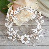 Chipboard leaf wreath Hr-056
