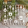Chipboard Christmas  background garlands  Hb-015