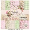 Stack of basic scrapbooking papers - House Of Roses - LZP-HOR03 -new collection