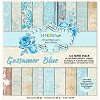 Pad of scrapbooking papers - Gossamer Blue 6x6 - new