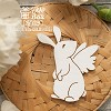 Chipboard  rabbit with wings Hf-029