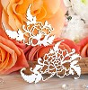 Chipboard Japanese rose (2 elements) Hf-121