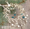 Chipboard Christmas wreath with garland of Hh-094