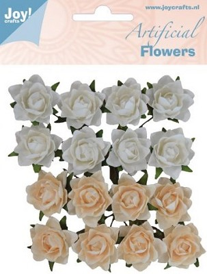 Joy! Crafts - Artificial Flowers Wit/zalm 6370/0066