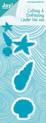 Joy! Crafts - Cutting & Embossing & Stencil - schelp - zeester - schelphoorn