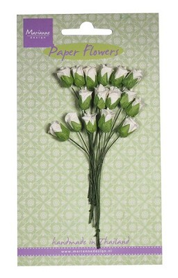 Marianne D Decoration Roses bud - white RB2238