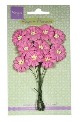 Marianne D Decoration Daisies - bright pink RB2252