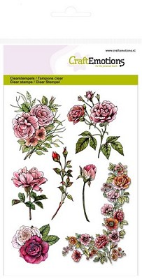 CraftEmotions clearstamps A6 - Botanical Rose Garden 1 (hoek)