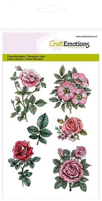 CraftEmotions clearstamps A6 - Botanical Rose Garden 2