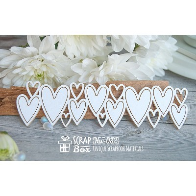Chipboard a border of hearts Hw-032