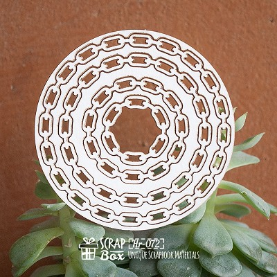 Chipboard steampunk frame chain Hr-072