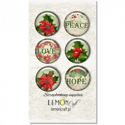 Selfadhesive buttons/badge, Christmas Greetings collection