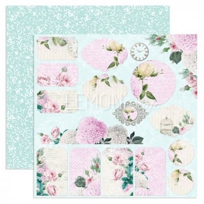Double-sided scrapbooking paper, Dreamy Mornings - Mornings Flowers  12x12